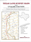 Texas Land Survey Maps for Uvalde County (Paperback book cover)