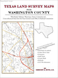 Texas Land Survey Maps for Washington County (Paperback book cover)