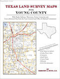 Texas Land Survey Maps for Young County (Paperback book cover)