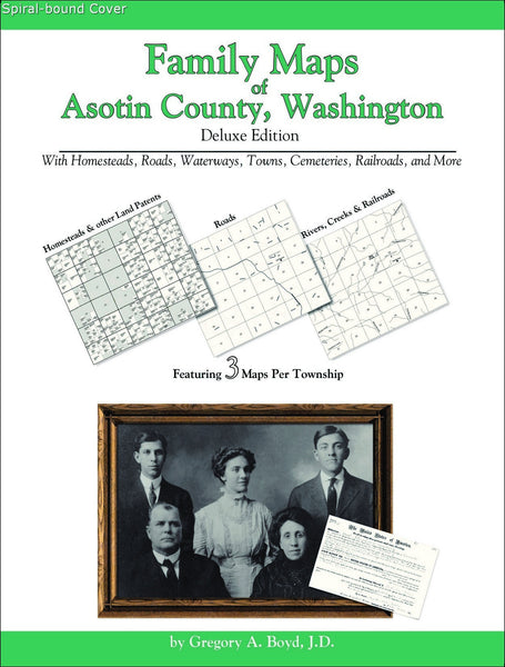 Family Maps of Asotin County, Washington (Spiral book cover)