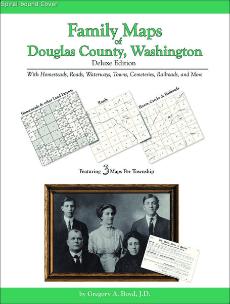 Family Maps of Douglas County, Washington (Spiral book cover)