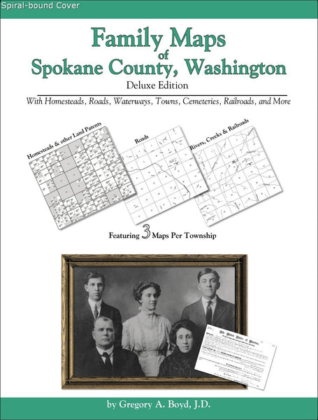 Family Maps of Spokane County, Washington (Spiral book cover)