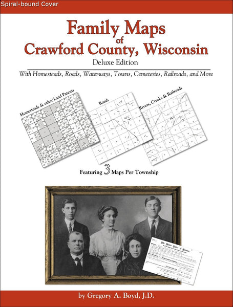 Family Maps of Crawford County, Wisconsin (Spiral book cover)