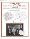 Family Maps of Fond du Lac County, Wisconsin (Paperback book cover)