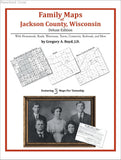Family Maps of Jackson County, Wisconsin (Paperback book cover)