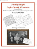 Family Maps of Pepin County, Wisconsin (Paperback book cover)