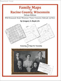 Family Maps of Racine County, Wisconsin (Paperback book cover)