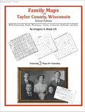 Family Maps of Taylor County, Wisconsin (Paperback book cover)