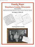 Family Maps of Waushara County, Wisconsin (Paperback book cover)