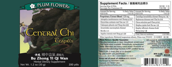 Plum Flower, Central Chi, Bu Zhong Yi Qi Wan, 200 ct