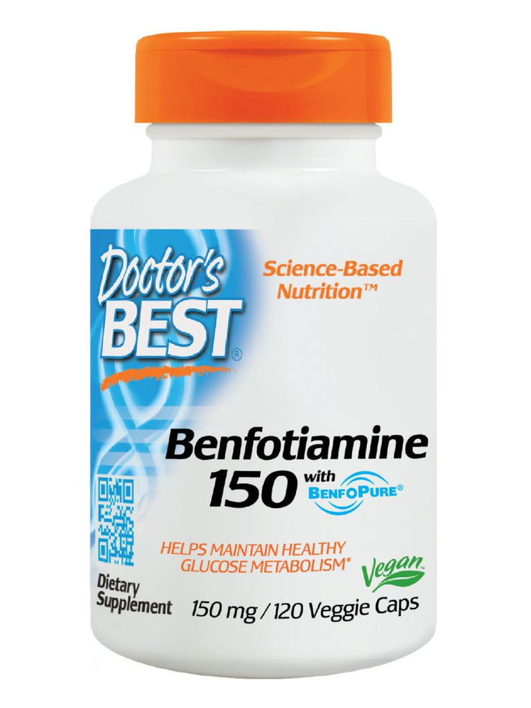 Best Benfotiamine 150, 150 mg, 120 veggie caps, Doctor's Best