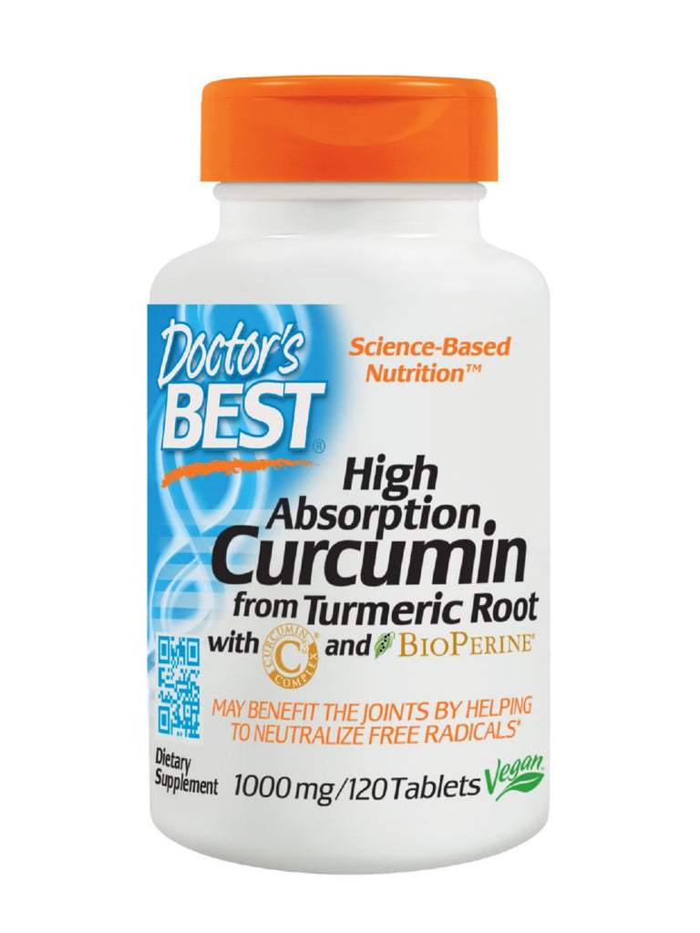 Best Curcumin C3 Complex with BioPerine, 1000mg, 120 ct, Doctor's Best