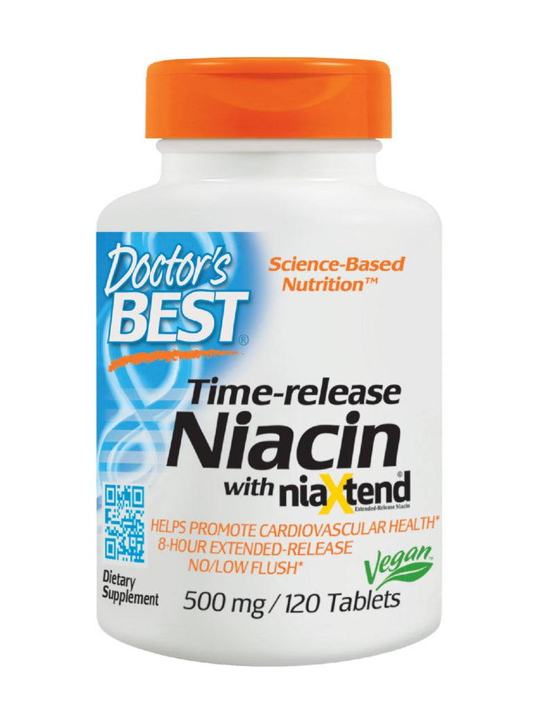 Real Niacin, Extended Release, 500mg, 120 ct, Doctor's Best