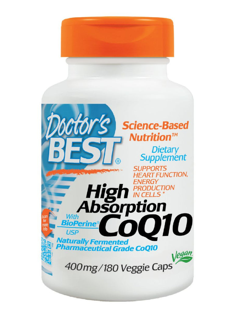 Doctor's Best, Hi Absorption CoQ10, 400 mg, 180 veggie caps