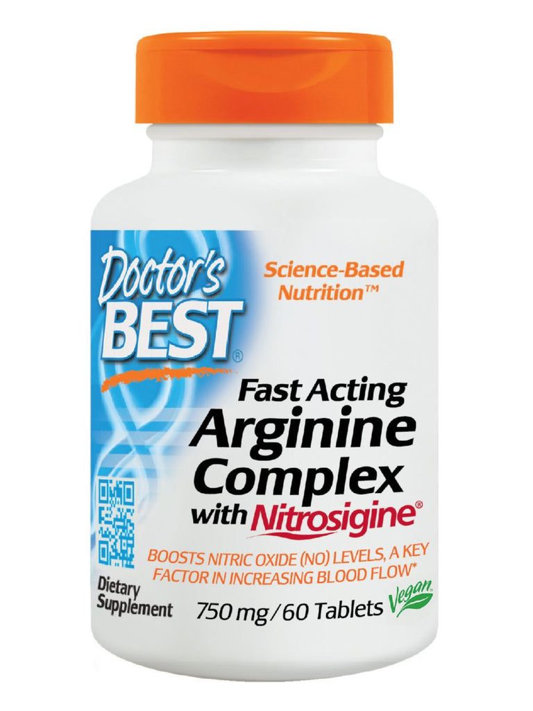 Doctor's Best, Fast Acting Arginine Complex with Nitrosigine, 60 tabs