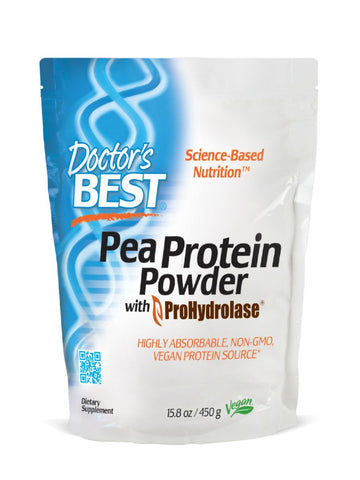 Doctor's Best, Pea Protein Powder with ProHydrolase, 450 grams