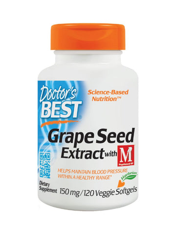 Doctor's Best, Grape Seed Extract with MegaNatural-BP, 150 mg, 120  veggie softgels