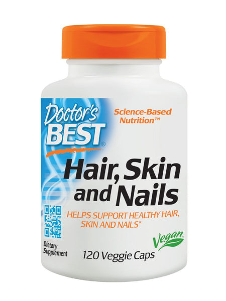 Doctor's Best, Hair, Skin and Nails, Vegan, 120 veggie caps