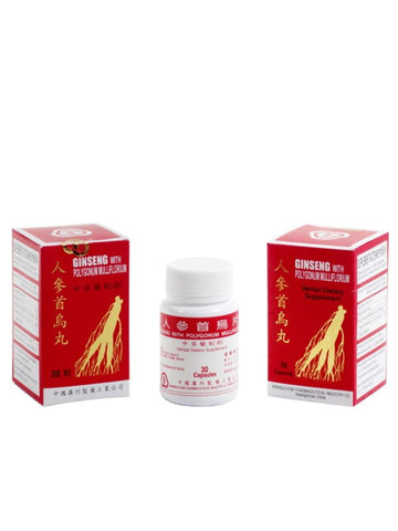 Ginseng With Polygonum Mulliflorium, 30 capsule, Cheng Feng