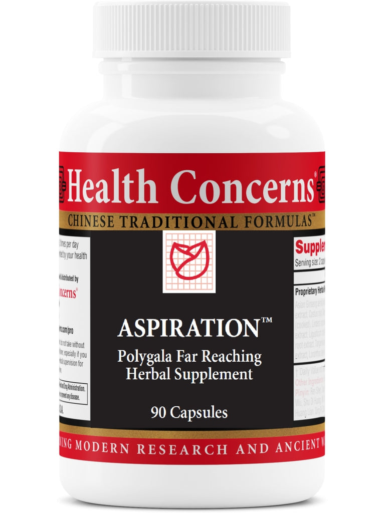 Aspiration, 90 ct, Health Concerns