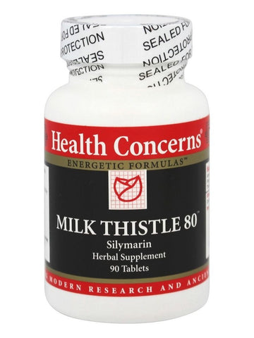 Milk Thistle 80, 90 ct, Health Concerns