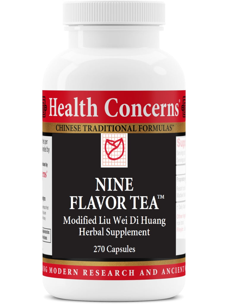 Nine Flavor Tea, Economy Size, 270 ct, Health Concerns