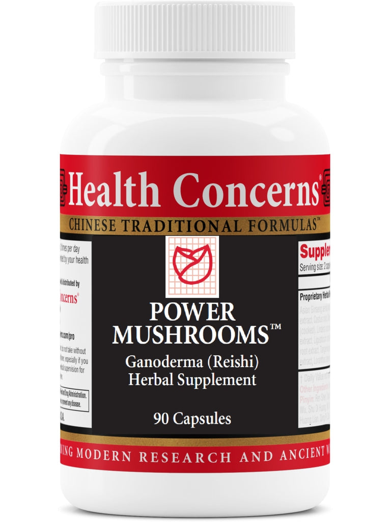 Power Mushrooms, 90 ct, Health Concerns