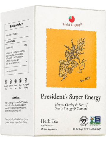 President's Tea, 20 tea bags, Health King