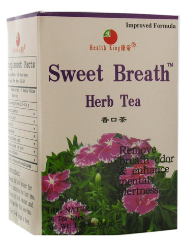 Sweet Breath Tea, 20 tea bags, Health King