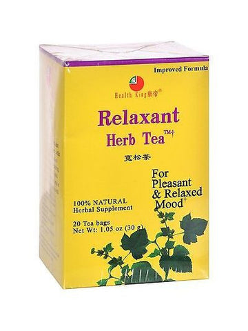 Relaxant Tea, 20 tea bags, Health King