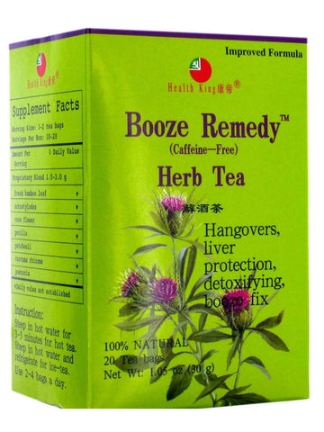 Booze Remedy Tea, 20 tea bags, Health King