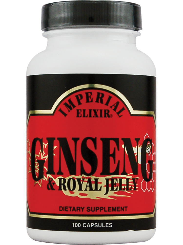 Ginseng and Royal Jelly, 100 cap, Imperial Elixir