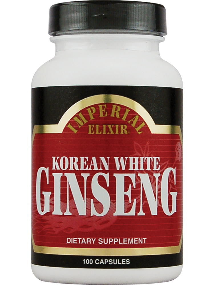 Korean White Ginseng, 100 cap, Imperial Elixir