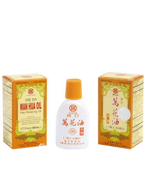 Die Da Wan Hua Oil, External Analgesic, 1.7 fl oz, Jingxiutang Brand