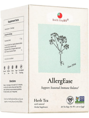 AllergEase Tea, 20 tea bags, Health King