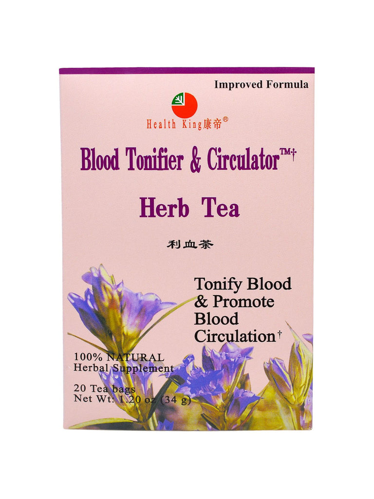 Blood Tonifier and Circulator Tea, 20 tea bags, Health King