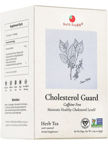 Cholesterol Guard Tea, 20 tea bags, Health King