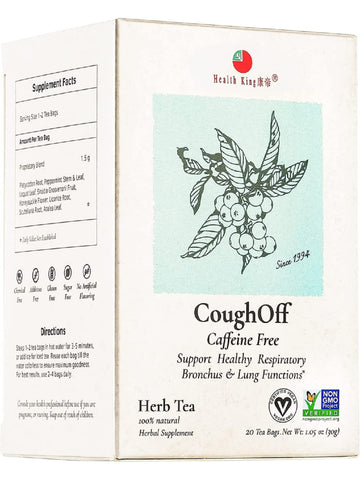 Cough-Off Tea, 20 tea bags, Health King