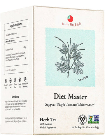 Diet Master Tea, 20 tea bags, Health King