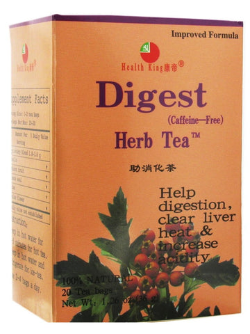 Digest Tea, 20 tea bags, Health King