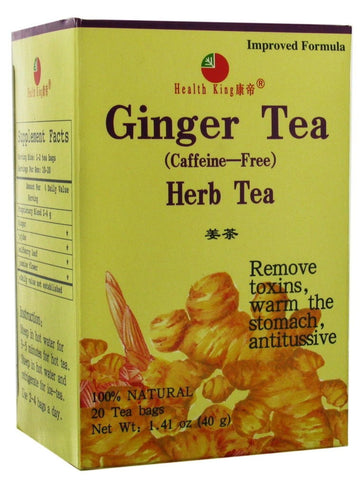 Ginger Tea, 20 tea bags, Health King
