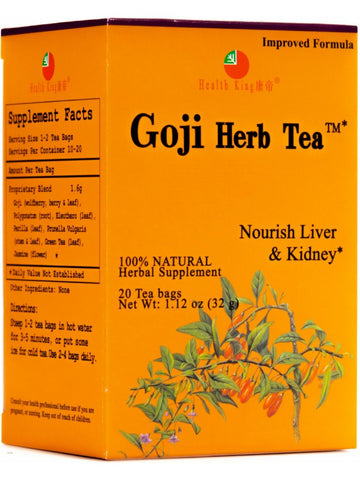 Goji Tea, 20 tea bags, Health King