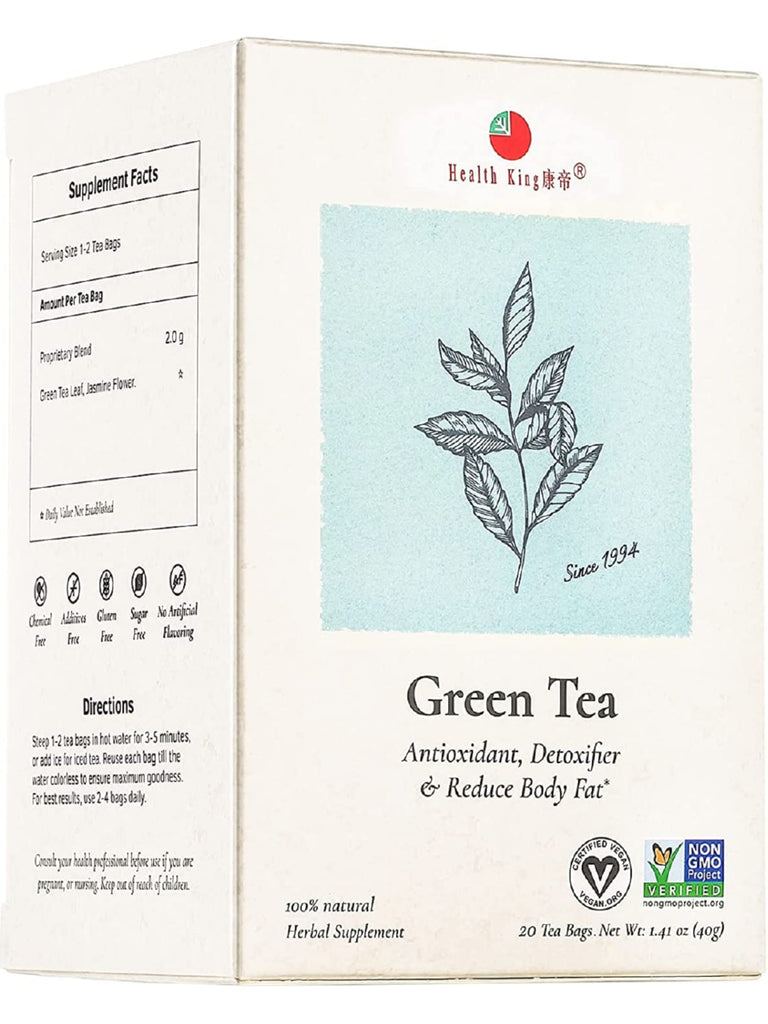 Green Tea, 20 tea bags, Health King