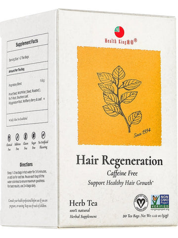 Hair Regeneration Tea, 20 tea bags, Health King