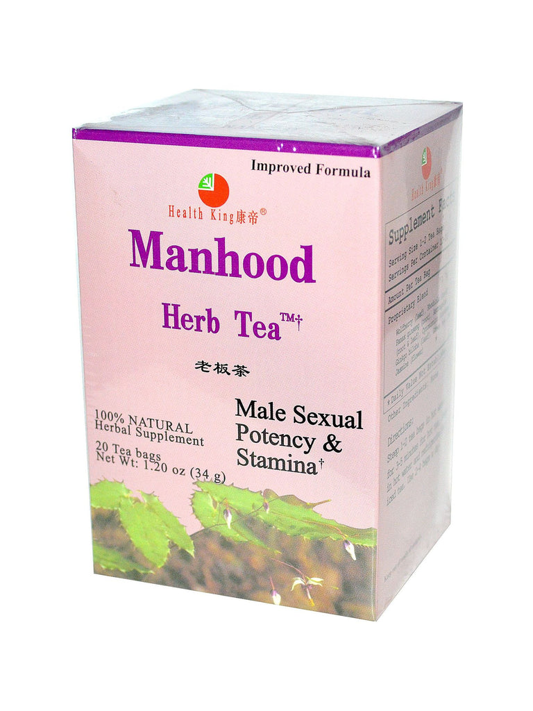 Manhood Tea, 20 tea bags, Health King