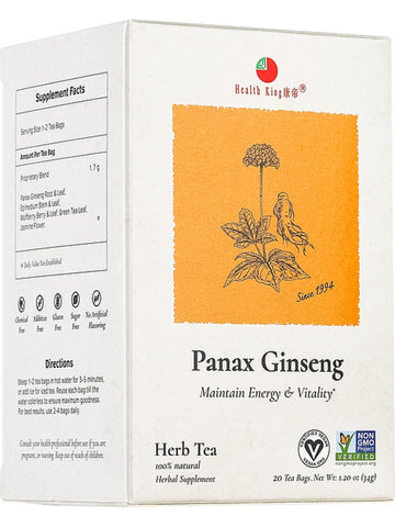 Panax Ginseng Tea, 20 tea bags, Health King
