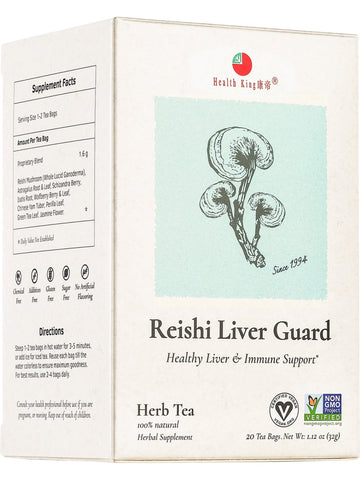 Reishi Liver Guard Tea, 20 tea bags, Health King