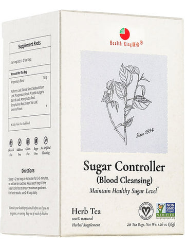 Sugar Controller Tea, 20 tea bags, Health King