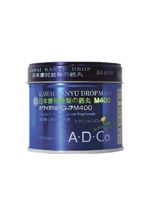 Kanyu Drops M400 - Vitamin A, D and Calcium, 180 ct, Kawai