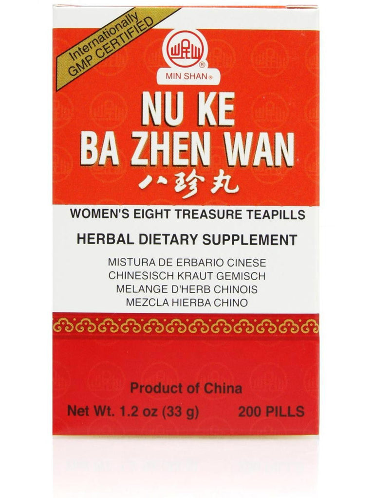 Nu Ke Ba Zhen Wan, Womens Eight Treasure Formula, 200 ct, Min Shan